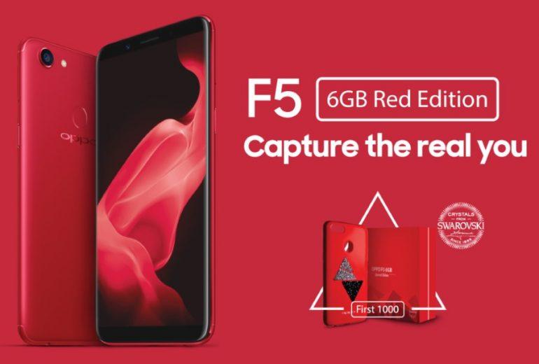new styles dd524 4a6da OPPO F5 6GB Red Edition Pre-Order Early Birds To Receive Swarovski ...