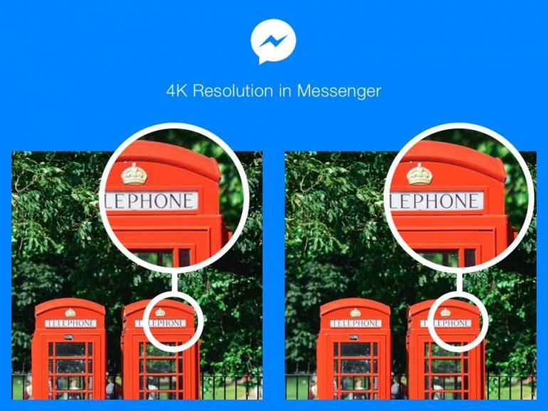 Higher Resolution Images on Facebook Messenger