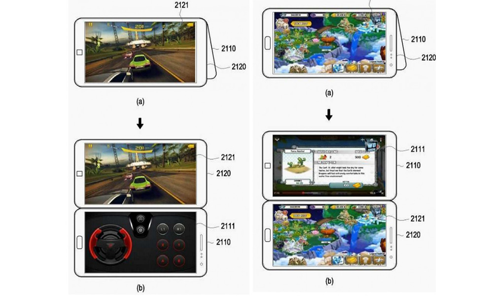 6aa3d3f54645 techradar.com Potential Samsung Galaxy X Interface Revealed In Patent  Listing