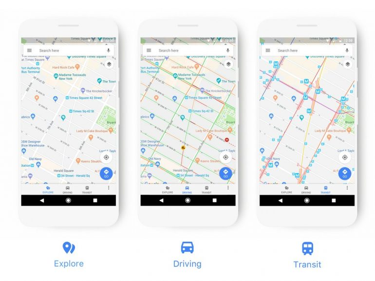 New Look for Google Maps