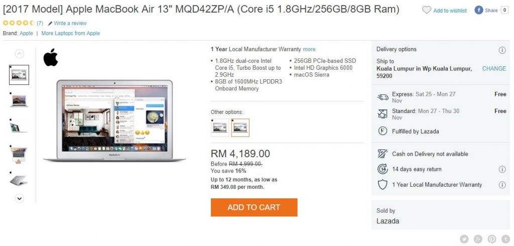 2c28559f694bf feedproxy.google.com Black Friday Deal  Save Over RM800 on the 2017 MacBook  Air