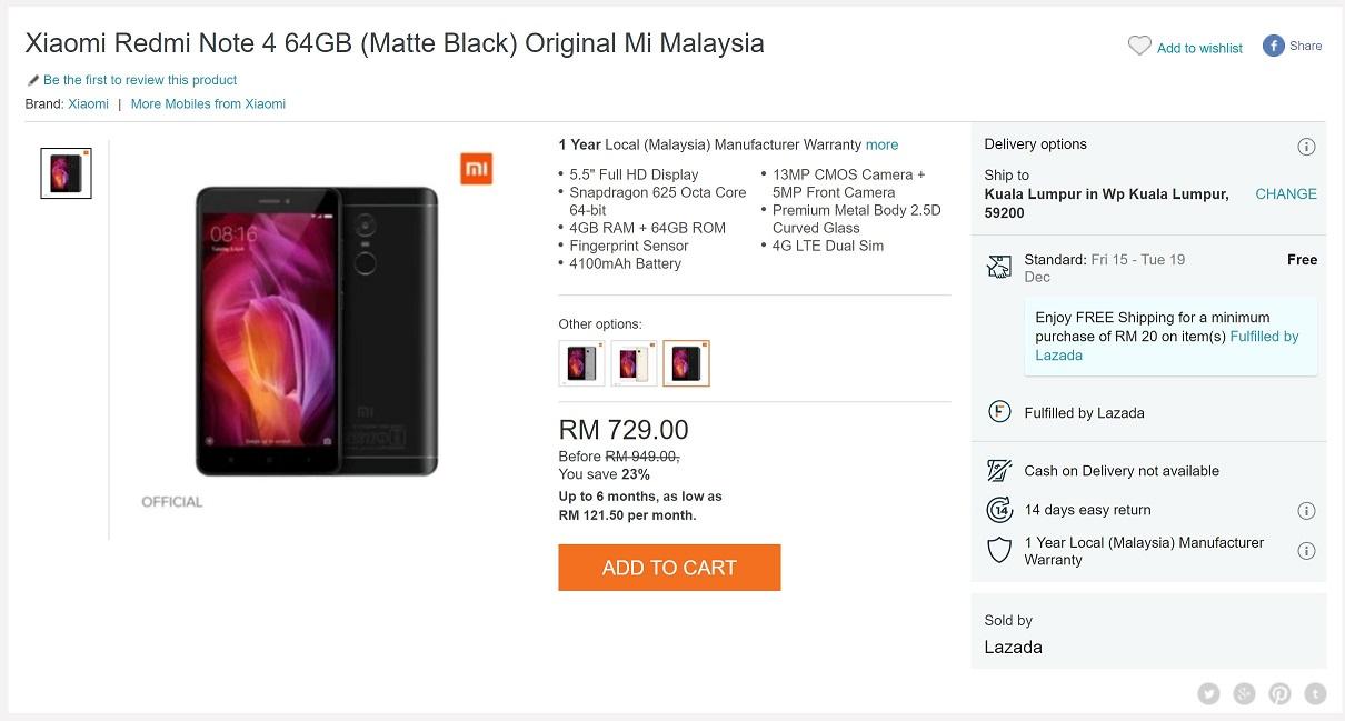 12 12 Deals Xiaomi Redmi Note 4 S Last Hurrah Lowyat Net