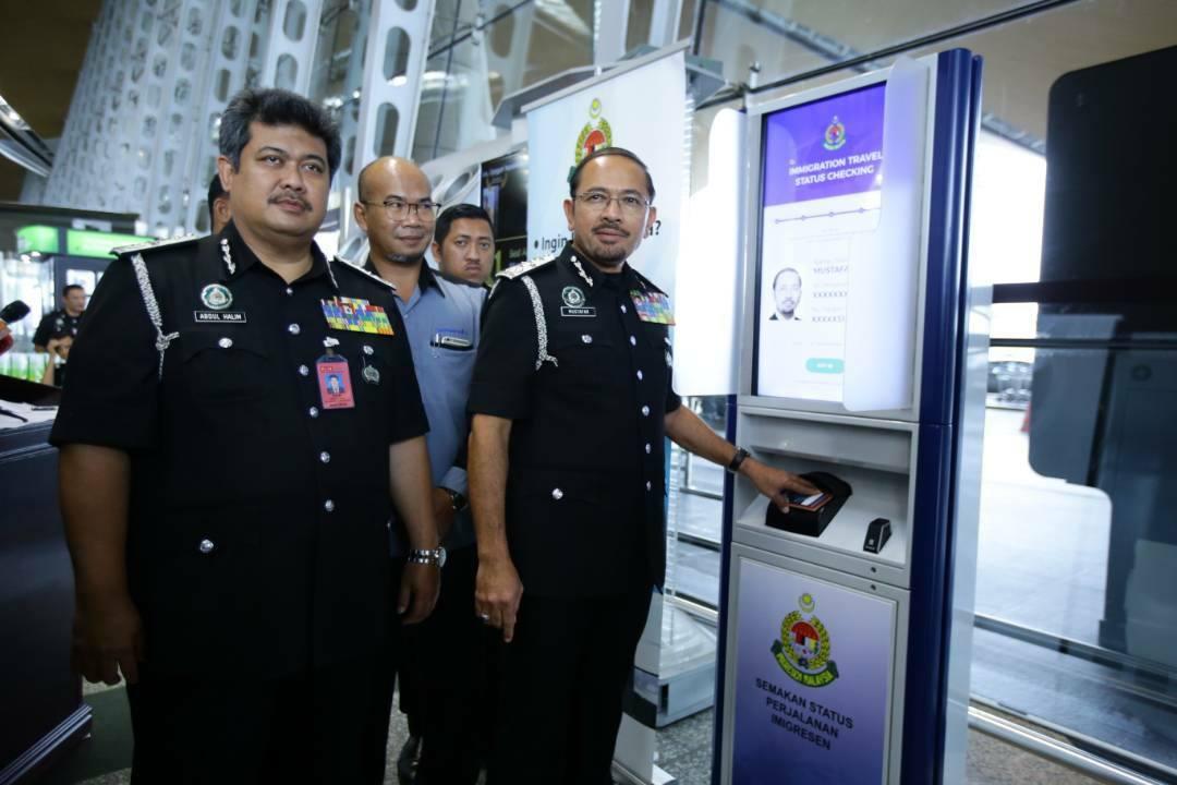 Immigration Department of Malaysia Blacklist Status Check Kiosk KLIA