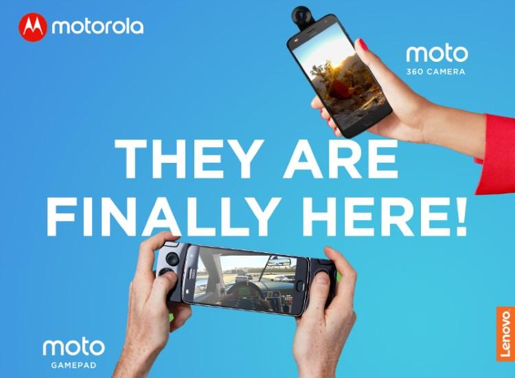 Moto Mods: Moto GamePad and Moto 360 Camera