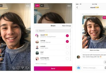 Instagram live videos in Direct