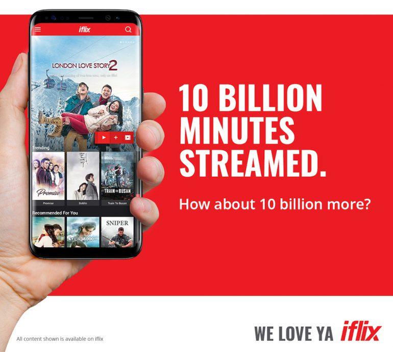 10 billion minutes streamed