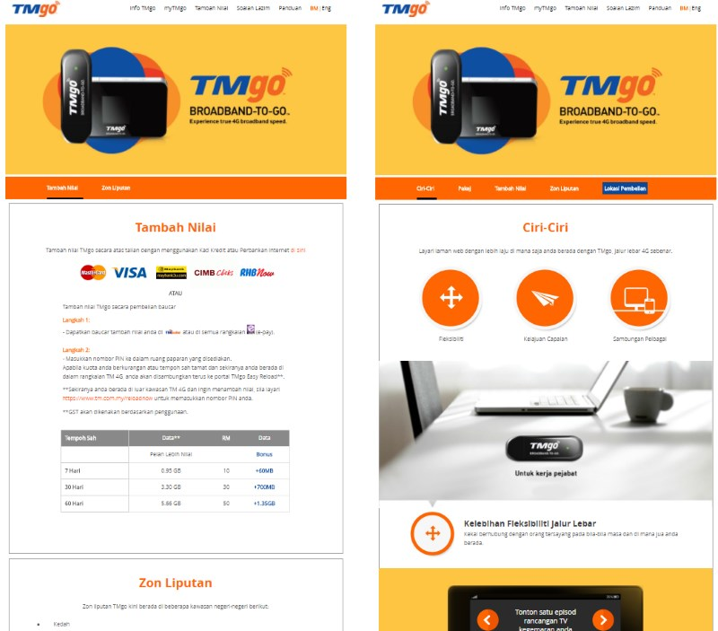 (L): TMgo's official website, as captured earlier today. (R): The website back in October 2017, as captured by Internet Wayback Machine.