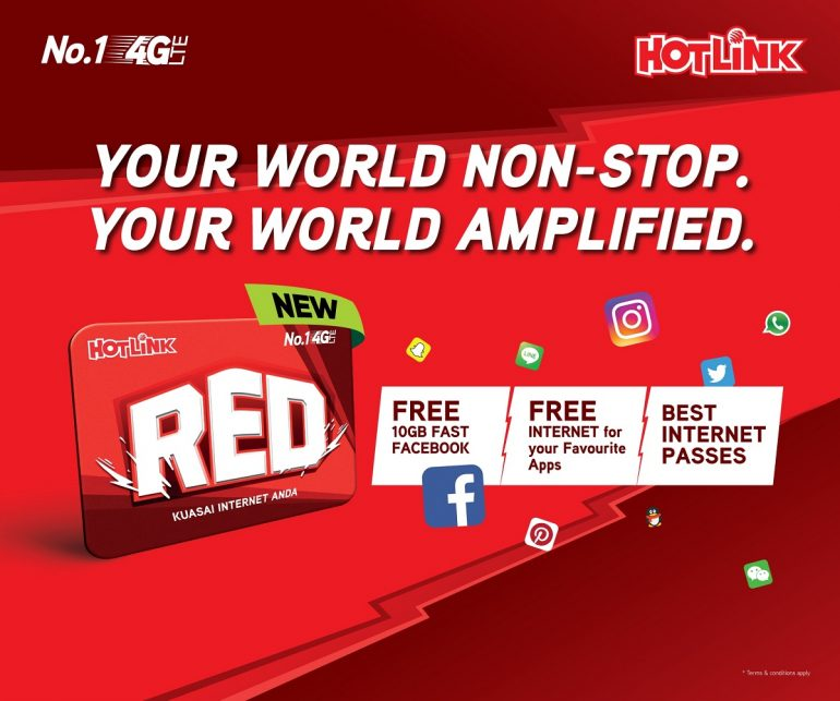 Maxis' New Hotlink RED Prepaid Pack