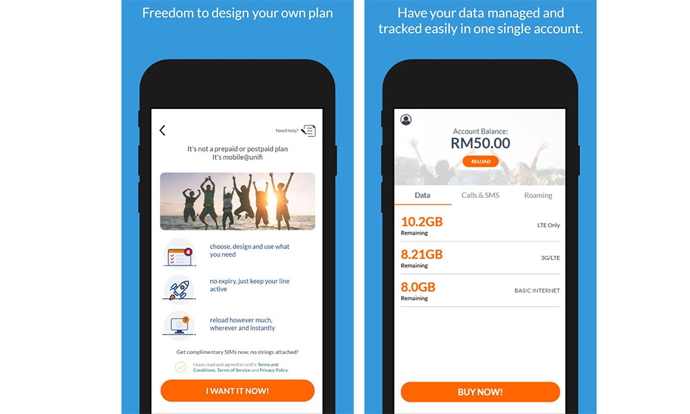 Unifi Mobile (New Line) No Expiry Prepaid