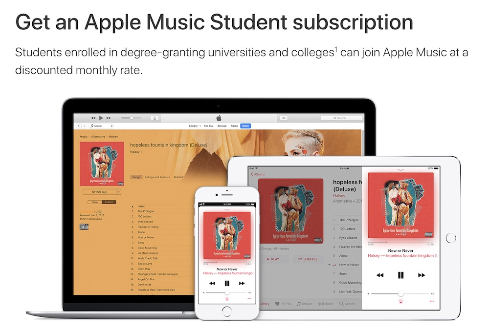 Apple Music student membership expands to over 80 new markets this month