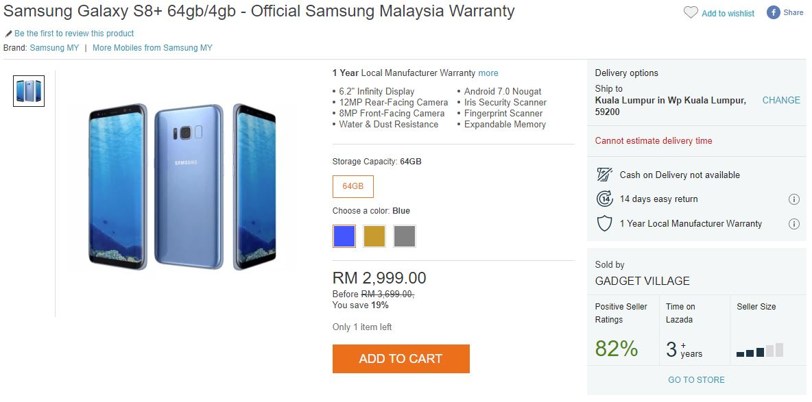 Samsung Malaysia CNY Promo Offers RM600 Discount on the Galaxy S8