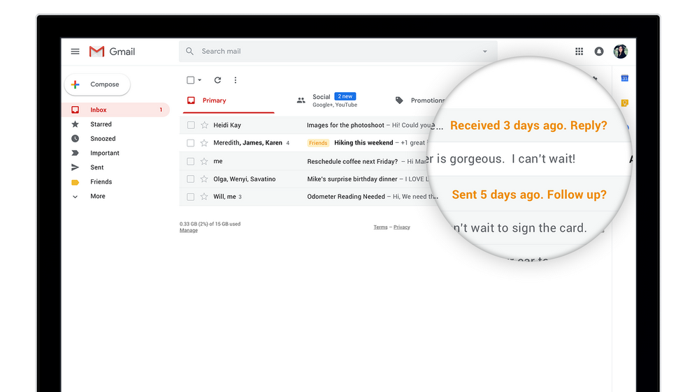 Google upgrades Gmail to offer greater productivity