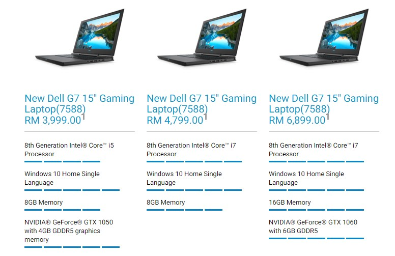 Dell G7 15 Gaming Laptops Malaysia