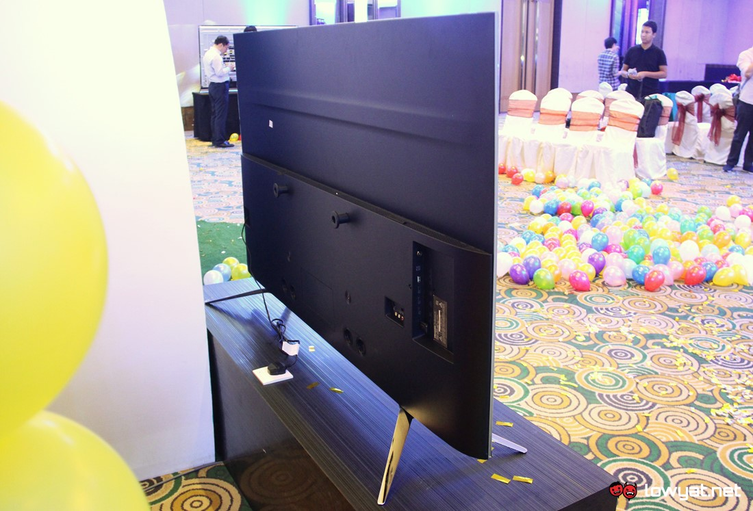 The rear area of Hisense U7A ULED TV.