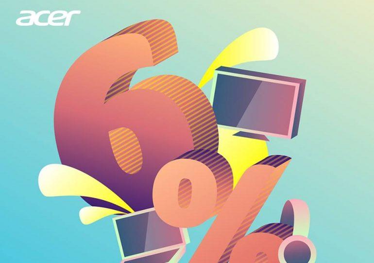 Acer 6% Cashback