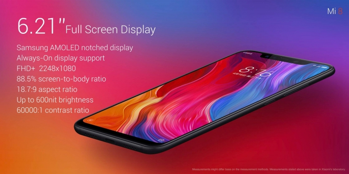 Xiaomi Mi 8 Official with Notched AMOLED Display & Affordable Price