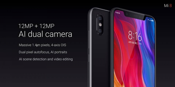 Xiaomi Mi 8 Official With Notched Amoled Display