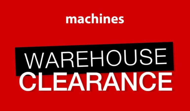 dbf9967fa Machines Warehouse Clearance Sale Opens To Public Today