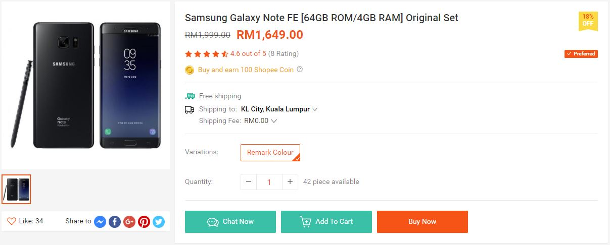 Score The Samsung Galaxy Note Fe For Only Rm1 649 Now Lowyat Net