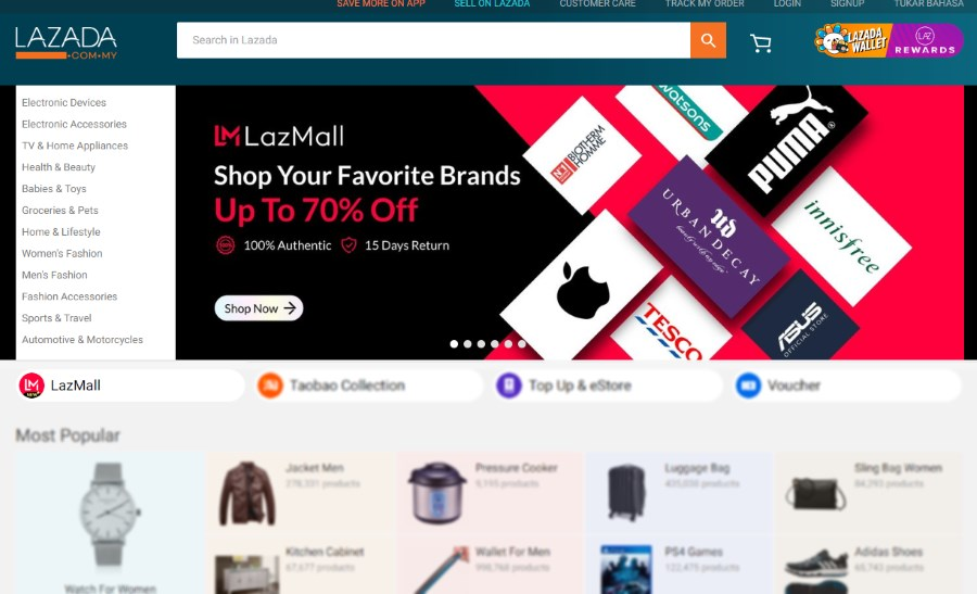 Lazada Malaysia Launches LazMall: Promises 100% Original