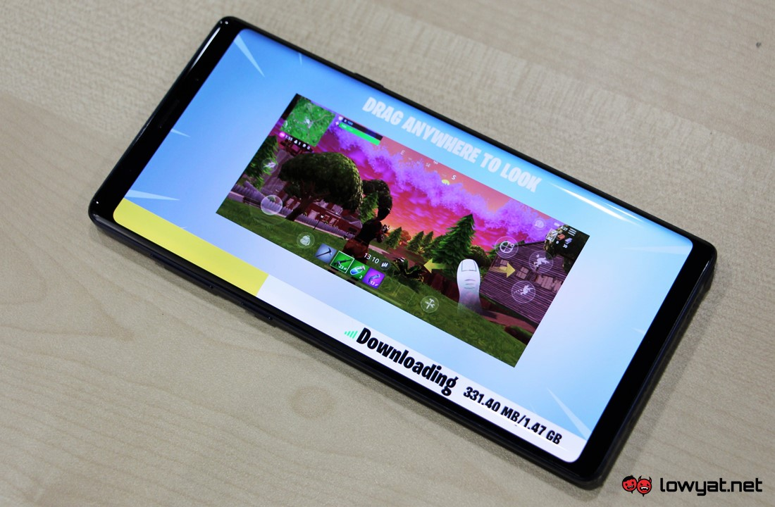 the galaxy note 9 can be a potent mobile content creation tool as well not only because of its processing power - fortnite note 9 download