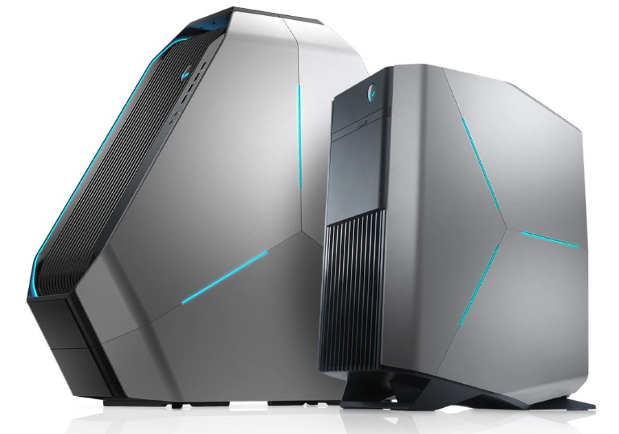 (L - R): Alienware Area 51 and Alienware Aurora.