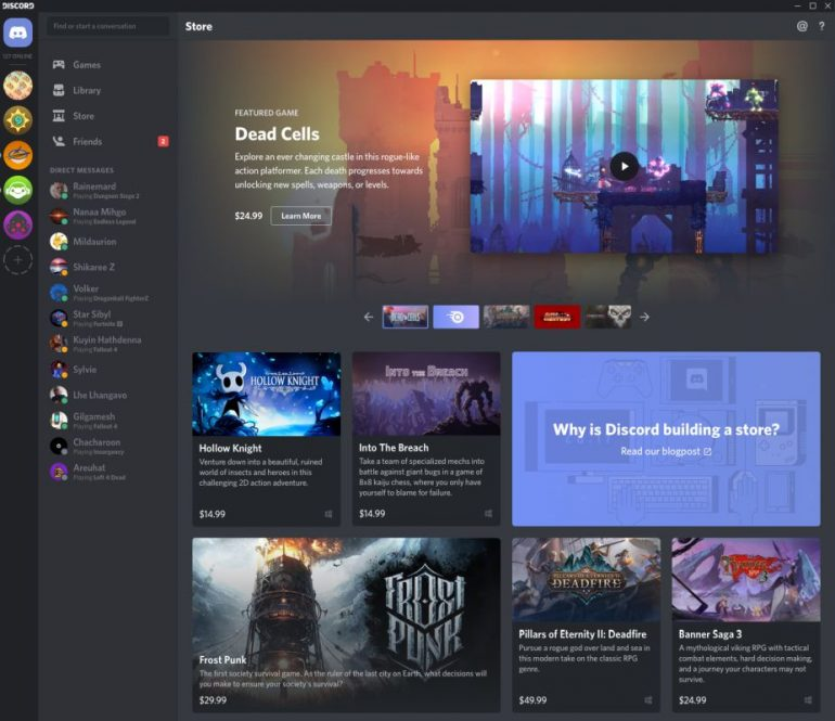 Discord Store wants an Epic win with 90/10 revenue split
