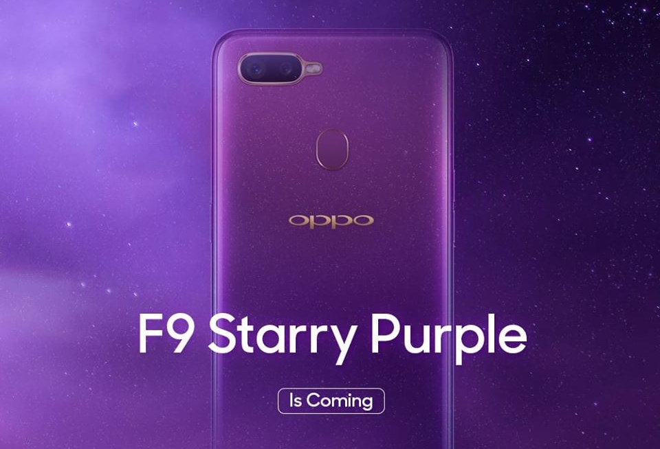 OPPO F9 Starry Purple To Be Launched In Malaysia On 2 October