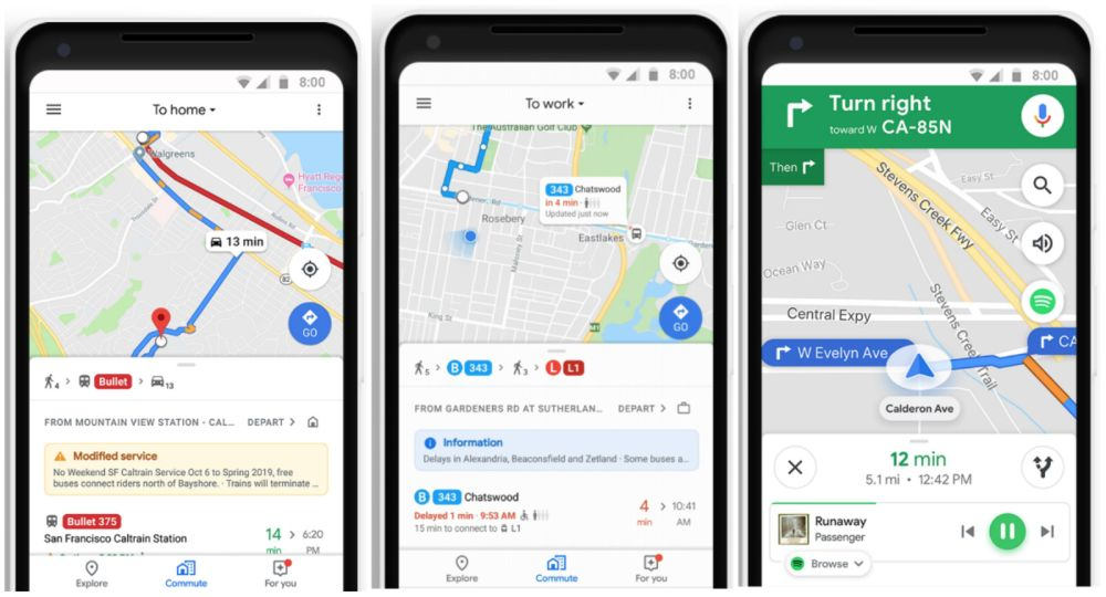 New Google Maps Update Adds Mixed-Mode Commutes And ...