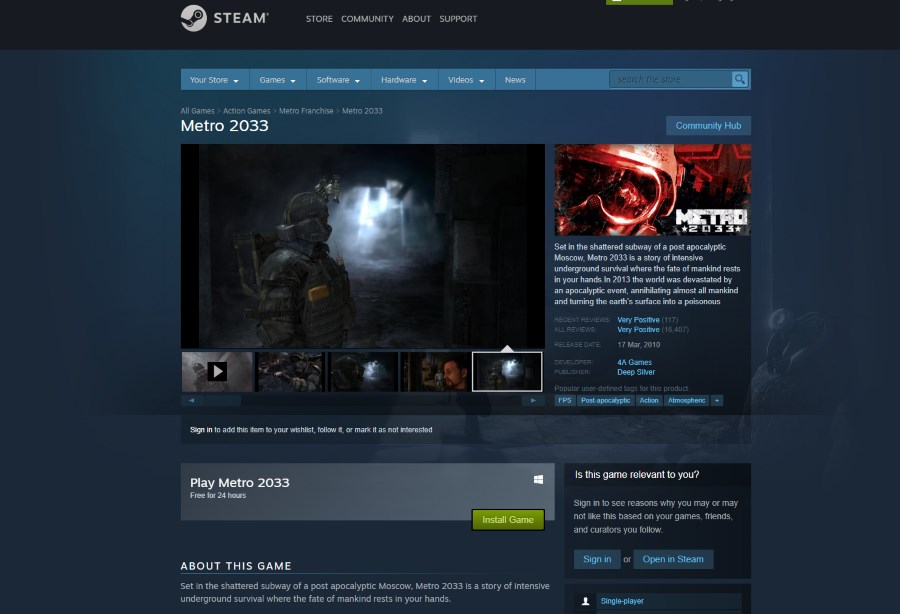 steam free games limited time