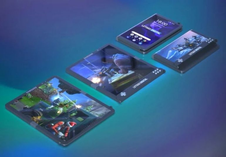 Huawei foldable smartphone visualized in 3D