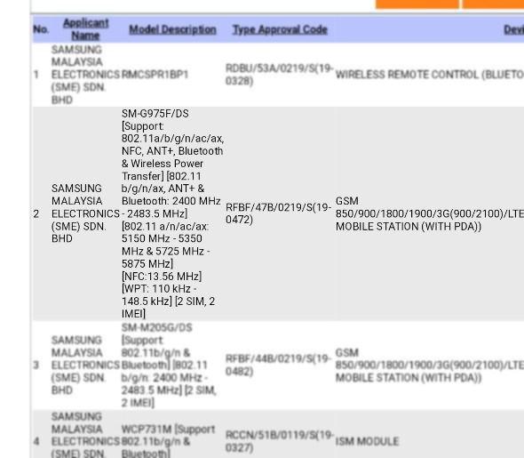 Samsung Galaxy S10 Plus and Galaxy M20 Appear On SIRIM: Malaysian