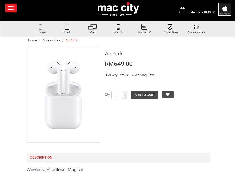 904fd738782 On another hand, Lazada which itself is an official Apple authorized  reseller did offer the first generation AirPods for less than its current  price tag but ...
