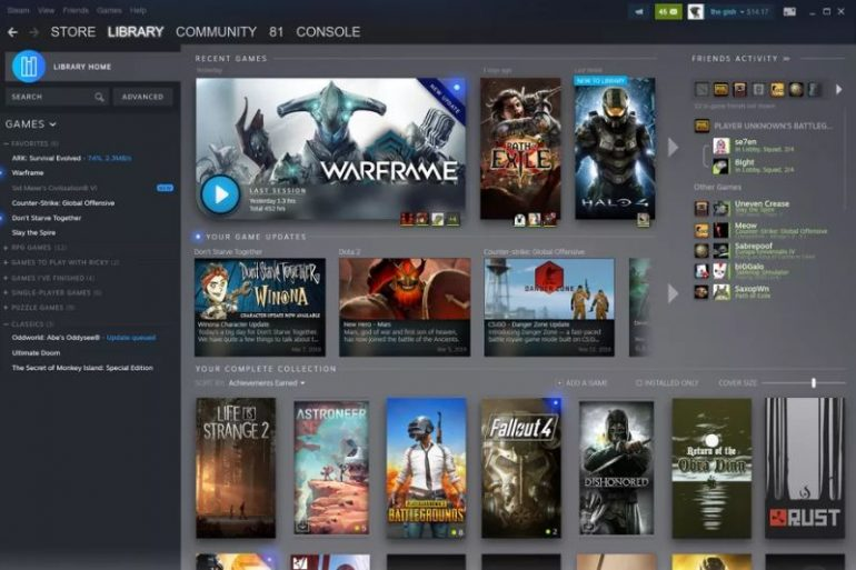 Valve Reveals New Steam Library Design