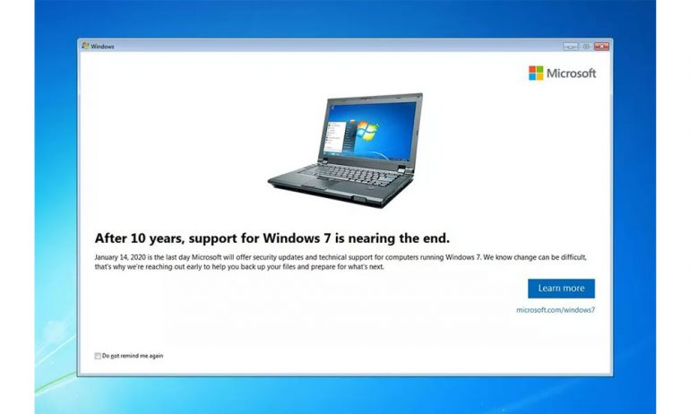 Windows 7 popup