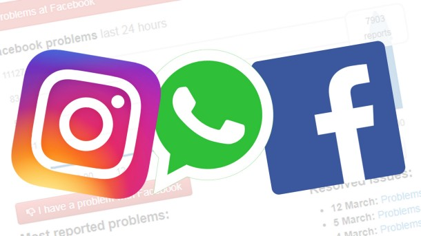 Facebook, Instagram and WhatsApp down worldwide