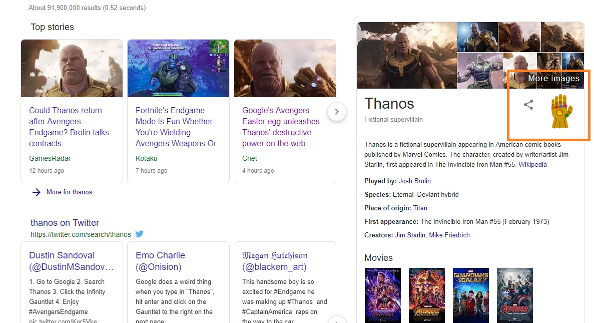 Thanos Will Wipe out Half Your Google Search Results with This Cool
