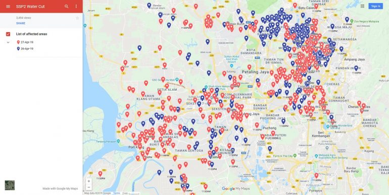 You Can Now See The Areas Affected By Klang Valley Water ... Google Map My Location Now on google maps las vegas, google maps settings, google maps satellite view, google maps mobile, google maps layers, google maps navigation, google maps twin falls, google maps traffic, google maps weather, google maps miami, google maps search, google maps new orleans, google maps home, google maps compass mode,