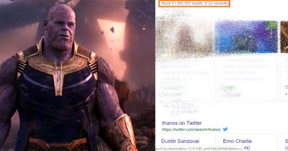Avengers: Endgame Google Thanos