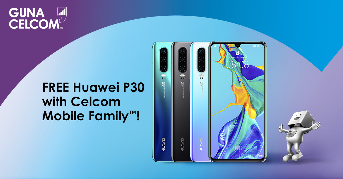 get the huawei p30 128gb for free when you sign up for celcom mobile family lowyat net. Black Bedroom Furniture Sets. Home Design Ideas