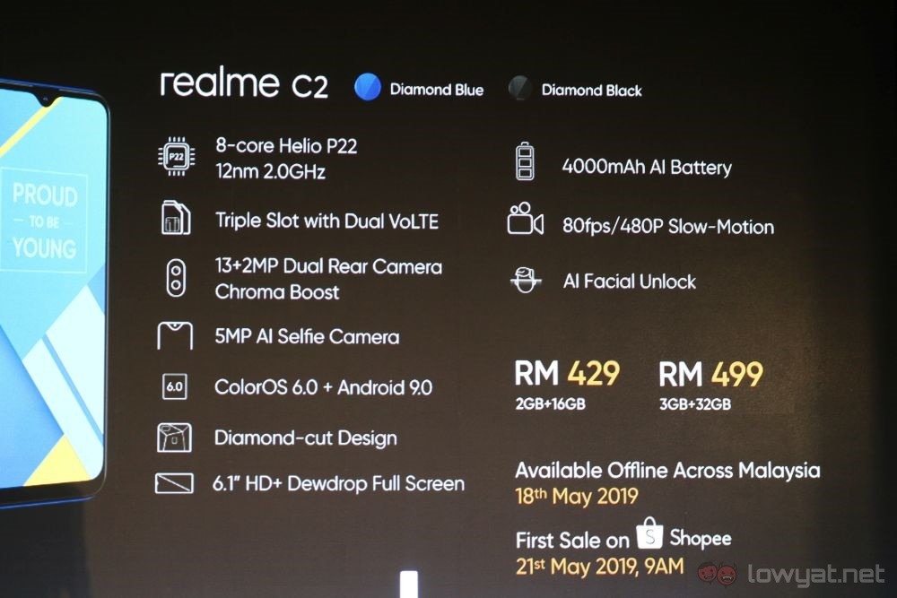 Realme C2 Now Officially In Malaysia