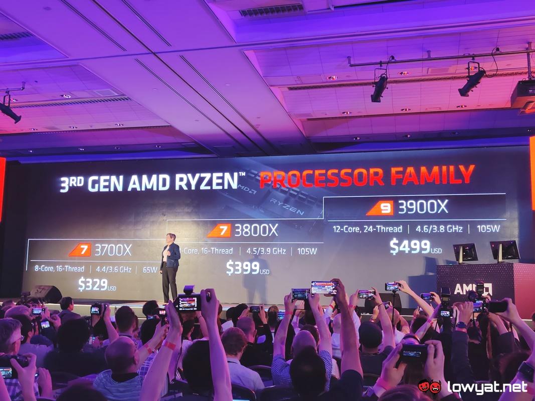 AMD Unveils New Ryzen 3000 Series CPUs