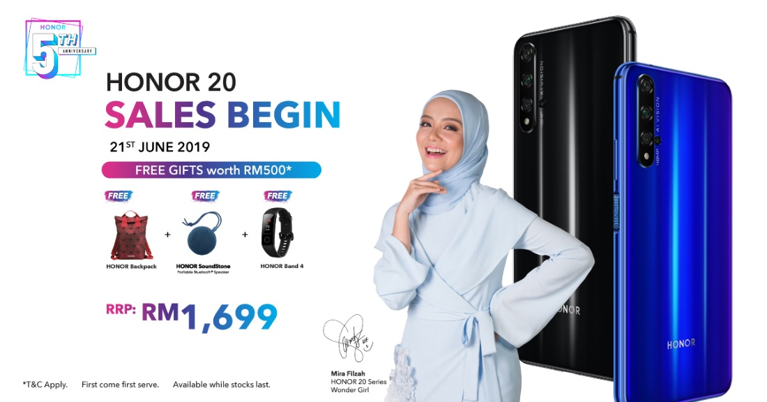 HONOR 20 To Be Available in Malaysia On 21 June | Lowyat NET