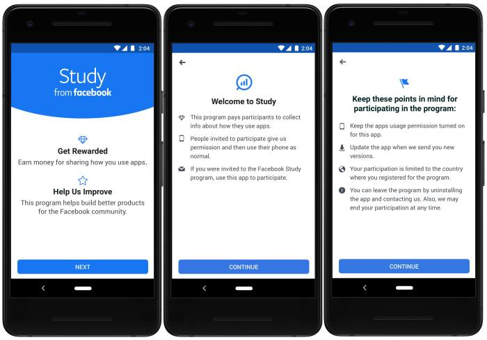 Facebook unveils 'Study' market research app, says they'll compensate participants