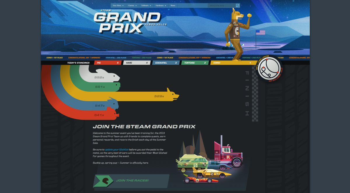 Steam Grand Prix Exploit