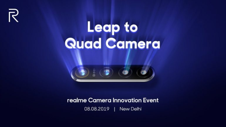 Realme will launch 64MP quad-camera phone on August 8