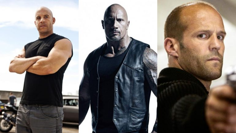 Fast & Furious Hobbs & Shaw Vin Diesel Dwayne Johnson Jason Statham