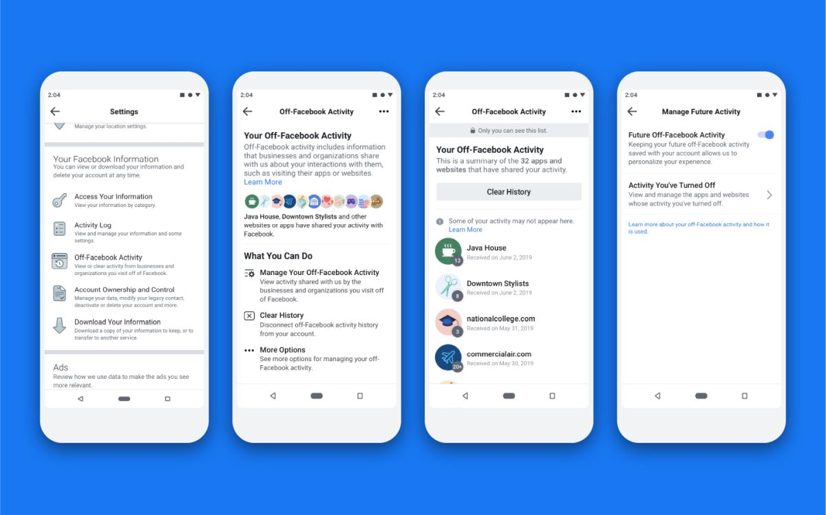Facebook adds feature to block data gathering