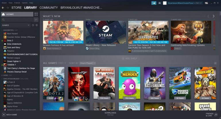 Steam's ace new-look Library is now available to all