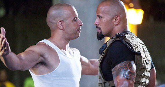 The Rock and Vin Diesel Fast & Furious